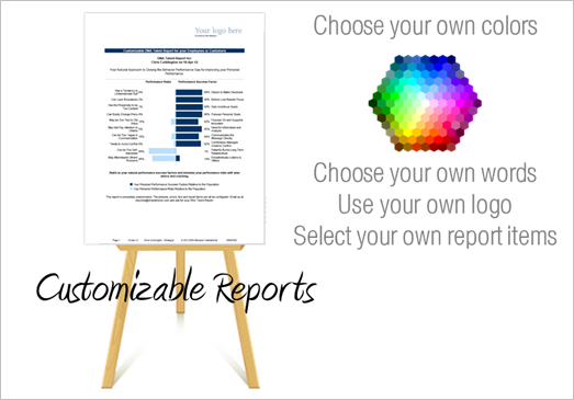 Custmized reports, report features, dna behavior, financial dna, business dna, personality reports